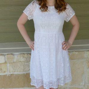 White Lace Dress Size Small